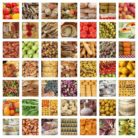 calidad de captación de comida italiana - grupo de imágenes de mercado diario toscano fresco Foto de archivo