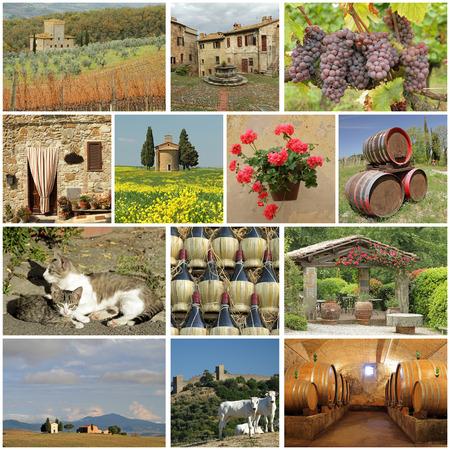 wonderful Tuscany - collage photo