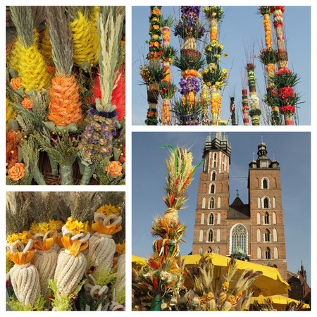 traditions: Palm Sunday traditions in Poland - collage