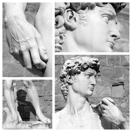 masterpiece: masterpiece of fine art -  David by Michelangelo puzzle,  Florence, Tuscany,Europe