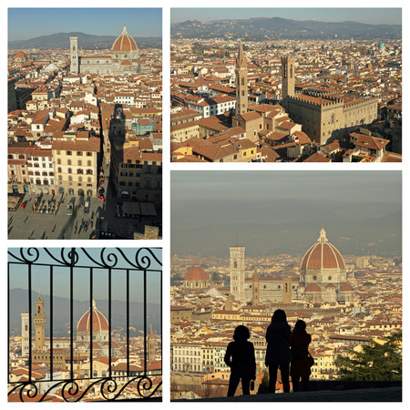 sightseeing Florence collage, Italy, Europe photo