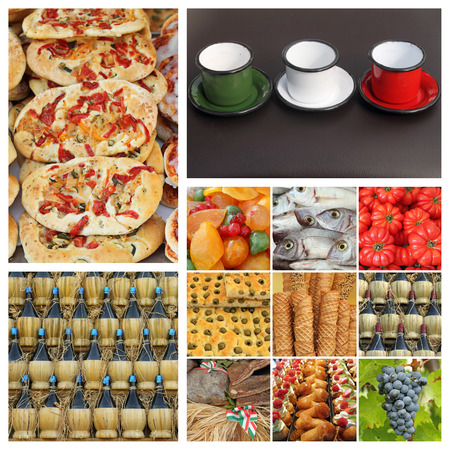 famous industries: italian food industry composition Stock Photo