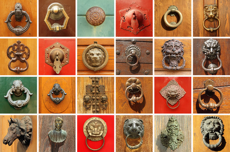 door handles: collection of various  stylish old door knockers