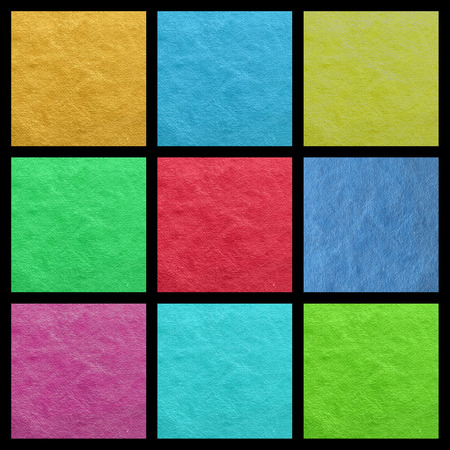 papier couleur: �chantillons de papier de couleur collage Banque d'images