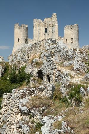 abruzzo: Rocca Calascio in the province of LAquila in Abruzzo, central Italy, Europe Stock Photo