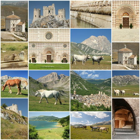 talian: images of  Abruzzo region in central Italy Stock Photo
