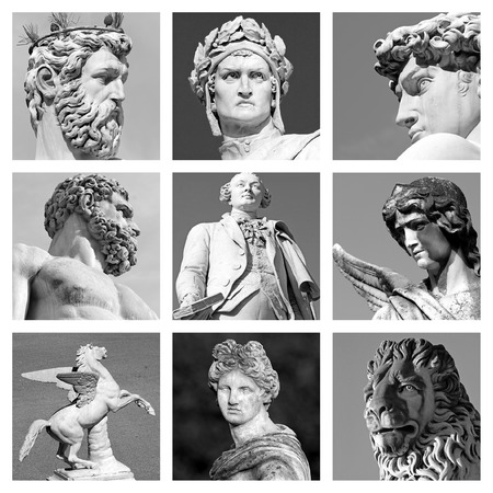 the renaissance: collection of renaissance sculptures from Florence, Italy
