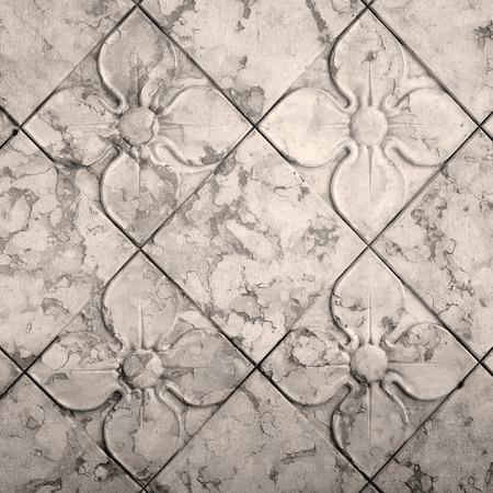 piso piedra: antiguo patrón floral