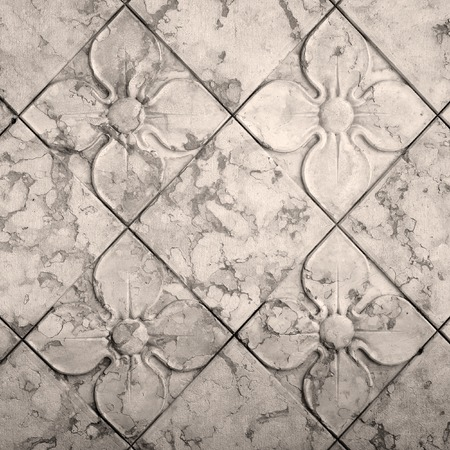 stone floor: antique floral  seamless pattern
