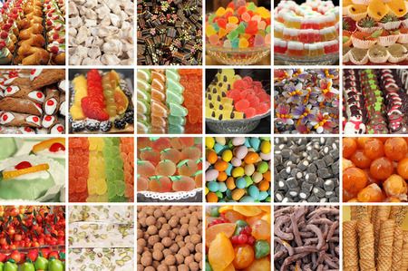 assorted: italian sweets collage Stock Photo