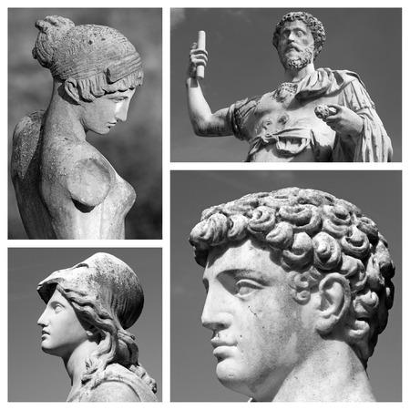diosa griega: colección de esculturas clásicas, Florencia, Italia, Europa