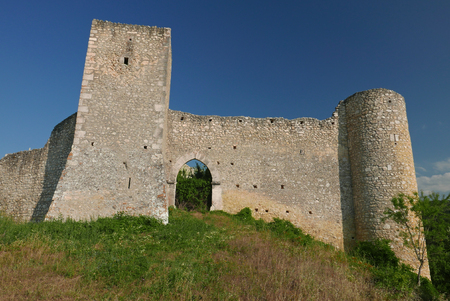 abandonment: old city walls in Abruzzo in central Italy