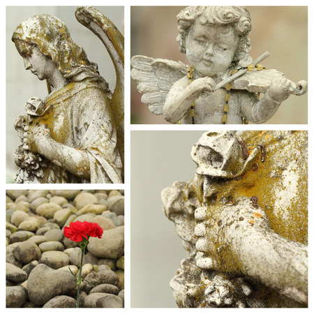 all saints  day: All saints day collage Stock Photo