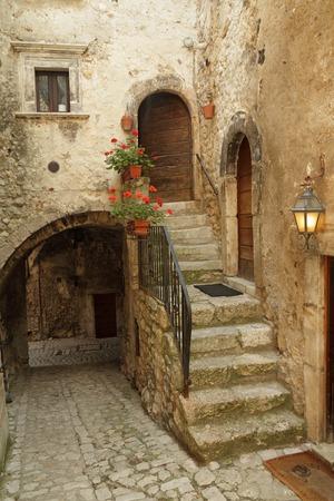 italian village: picturesque court  in italian village Santo Stefano di Sessanio in Abruzzo