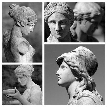 female classic sculptures collection made of images from Florence in Italy, Europe