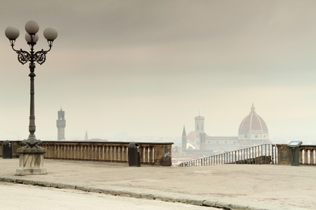 spectacular: view of old beautiful Florence city from famous Piazzale
