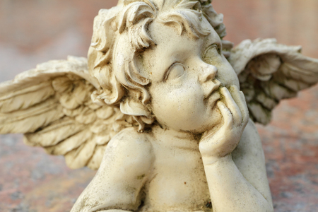 angelic vintage figurine closeup