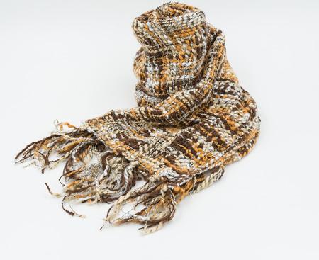 woollen: Striped knitted woollen scarf