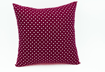bedder: dark red pillow for decorate