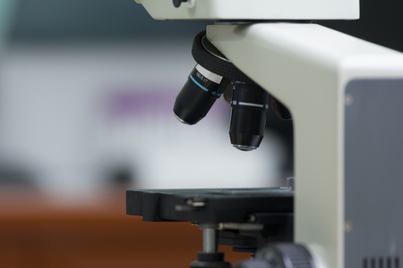 microscope: Laboratory Microscope. Scientific and healthcare research background.