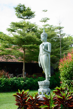 emerald buddha image in park Stock Photo