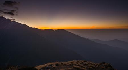 fishtail: Sunrise over the Machapuchare (fishtail) in Nepal ,elevation 6993 m