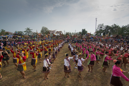 rains: CHIANGRAI,THAILAND - MAY 15 :Unidentified dancers perform at the Thai Dance in Rocket festival Boon Bang Fai Lanna' The celebration for plentiful rains during the rice plant season,on May 15,2016 Wiang Chiang Rung district,Chiang rai ,Thailand