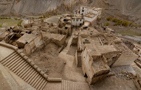 Yamayuru Monastery-Oldest in Ladahk Stock Photo