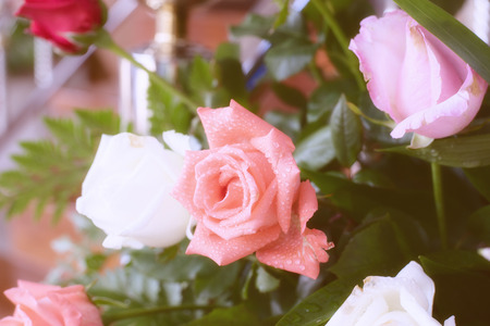 bouquet of beautiful Roses for a wedding