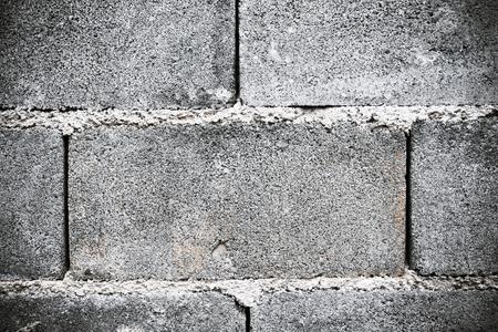 masonary: Old abstract cinderblock wall (block),background and texture. Stock Photo