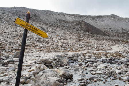 Chola pass sign on everest base camp trekking route