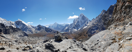 Panorama view of high mountain in everest base camp,Nepal