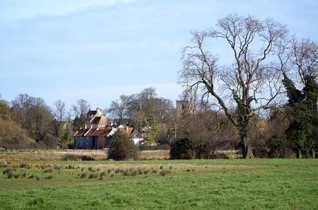 cambridgeshire: The small Cambridgeshire village of Fen Ditton, near Cambridge, England, as seen from across Ditton Meadows.