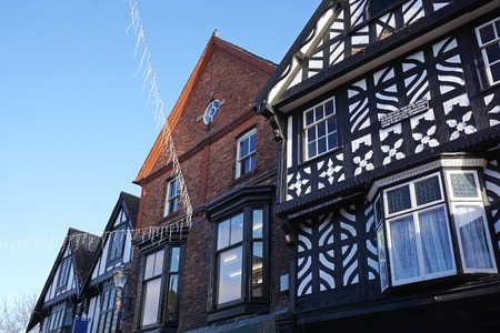 Historic Wattle And Daub Building, Nantwich, Cheshire, England