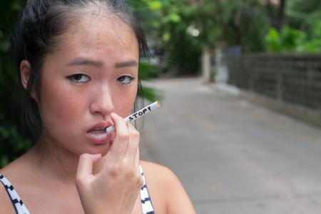stop smoking: Stop smoking cigarettes Stock Photo
