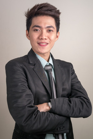 filipino ethnicity: Portrait of Asian young businessman Stock Photo