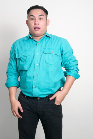 filipino adult: Portrait of overweight Asian man