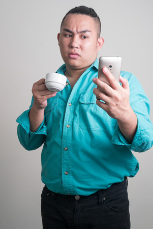 filipino ethnicity: Portrait of overweight Asian man
