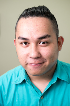 filipino ethnicity: Overweight Asian man Stock Photo