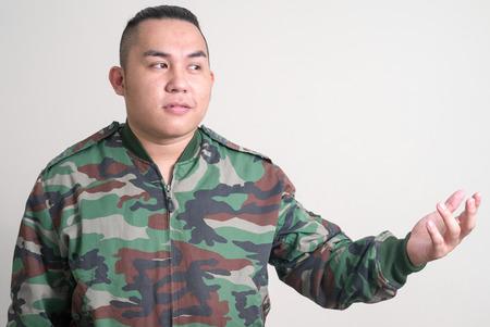 filipino ethnicity: Portrait of overweight Asian man