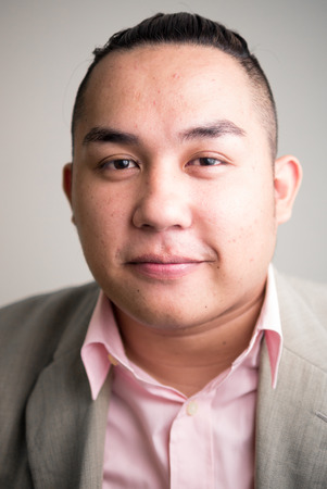 filipino ethnicity: Portrait of Asian overweight man