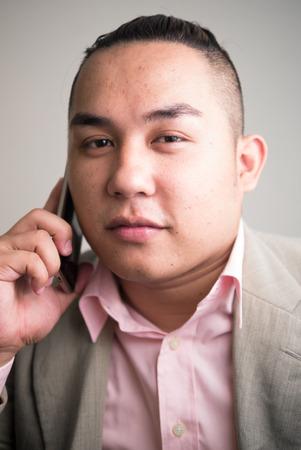 filipino ethnicity: Portrait of Asian overweight man