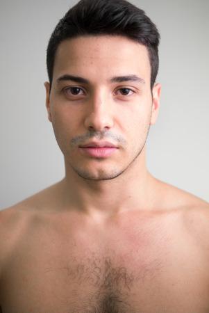 partially nude: Partially nude handsome man Stock Photo