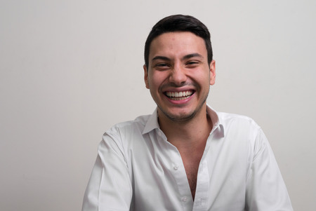 only men: Handsome young man smiling