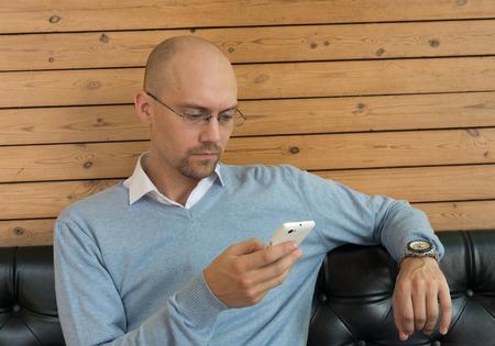 receding hairline: Portrait of businessman