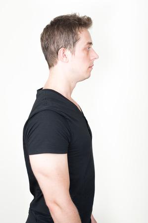 man profile: Side profile of man