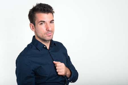 only one mid adult male: Portrait of handsome man Stock Photo