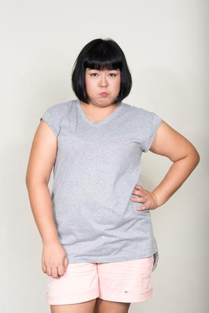 gordos: Retrato de mujer con sobrepeso