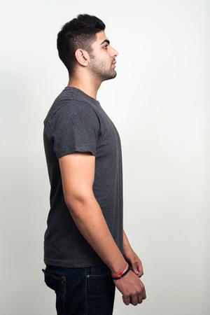 man profile: Profile view of Indian man