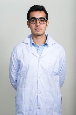nerdy: Doctor wearing nerdy glasses Stock Photo